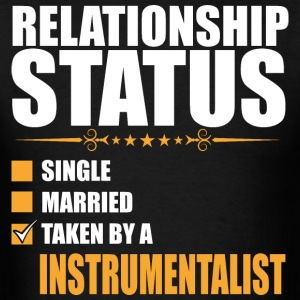 Relationship Status Single Married Instrumentalist - Men's T-Shirt
