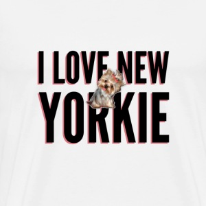 I LOVE NEW YORKIE - Men's Premium T-Shirt