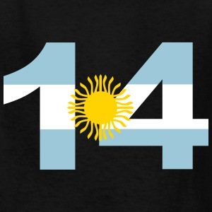 Argentinia Numbers, 14, Jersey Numbers Argentinia Kids' Shirts - Kids' T-Shirt