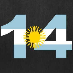 Argentinia Numbers, 14, Jersey Numbers Argentinia Bags & backpacks - Tote Bag