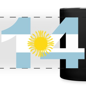 Argentinia Numbers, 14, Jersey Numbers Argentinia Mugs & Drinkware - Full Color Panoramic Mug