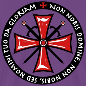 Cross Knights Templar Crusader non nobis domine - Men's Premium T-Shirt