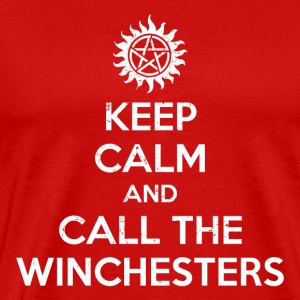 keep calm and call winchesters - Men's Premium T-Shirt