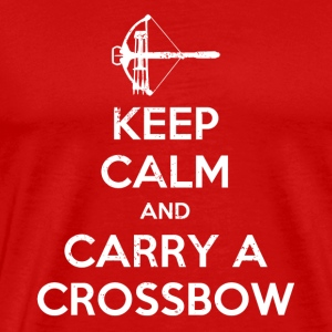 Keep Calm And Carry A Crossbow - Men's Premium T-Shirt