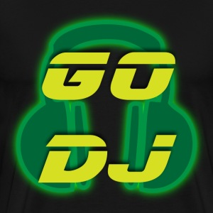 Go DJ black t shirt - Men's Premium T-Shirt