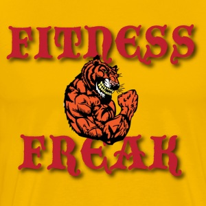 fitness freak yellow t shirt - Men's Premium T-Shirt