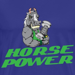 Horsepower blue t shirt - Men's Premium T-Shirt
