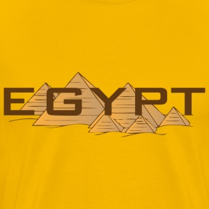 Egypt pyramids yellow shirt - Men's Premium T-Shirt