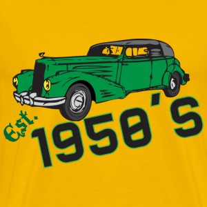 Est. 1950's yellow t shirt - Men's Premium T-Shirt