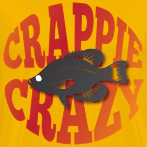 Crappie Crazy yellow t shirt - Men's Premium T-Shirt