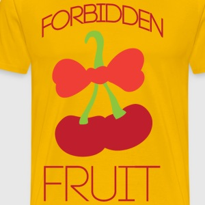 Forbidden fruit yellow t shirt - Men's Premium T-Shirt