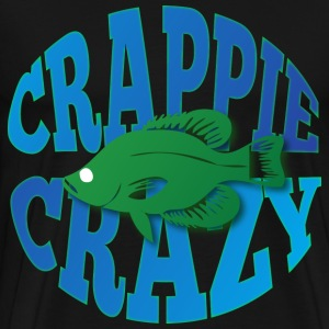 Crappie crazy black t shirt - Men's Premium T-Shirt
