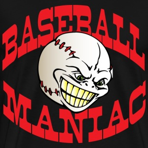 Baseball Maniac Black t shirt - Men's Premium T-Shirt