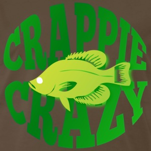 Crappie Crazy brown t shirt - Men's Premium T-Shirt