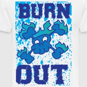 Burn out white t shirt - Men's Premium T-Shirt