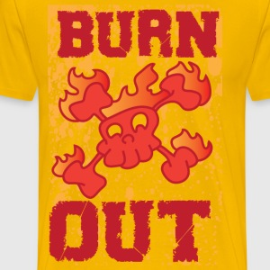 burn out yellow t shirt - Men's Premium T-Shirt