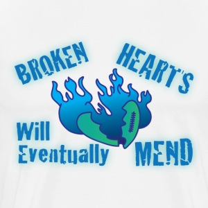 Broken hearts will eventually mend white t shirt - Men's Premium T-Shirt