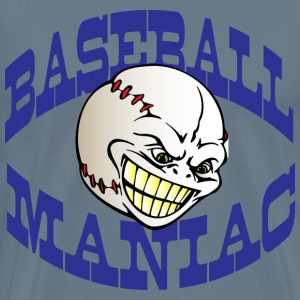 Baseball Maniac light blue t shirt - Men's Premium T-Shirt