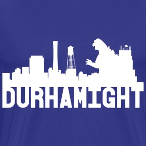 Men's Durhamight Skyline Godzilla Premium Tee (Whi - Men's Premium T-Shirt