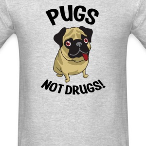 Pugs Not Drugs - Men's T-Shirt