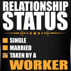 Relationship Status Single Married Worker - Men's T-Shirt
