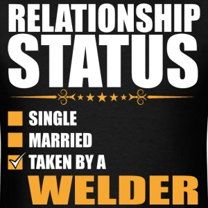 Relationship Status Single Married Welder - Men's T-Shirt