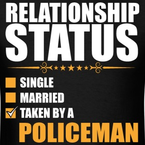 Relationship Status Single Married Policeman - Men's T-Shirt
