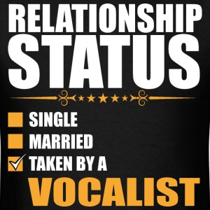 Relationship Status Single Married Vocalist - Men's T-Shirt