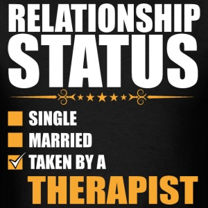 Relationship Status Single Married Therapist - Men's T-Shirt