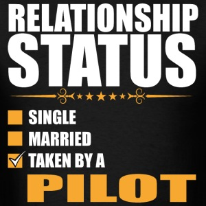 Relationship Status Single Married Pilot - Men's T-Shirt