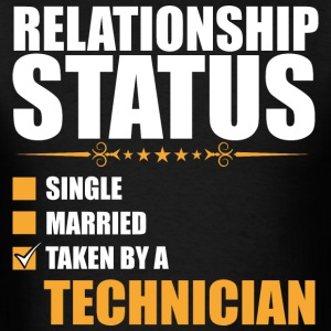 Relationship Status Single Married Technician - Men's T-Shirt