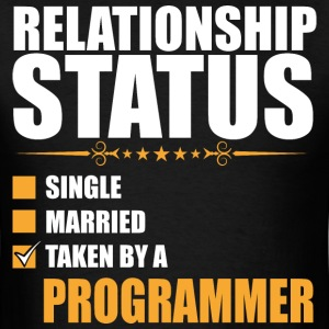 Relationship Status Single Married Programmer - Men's T-Shirt