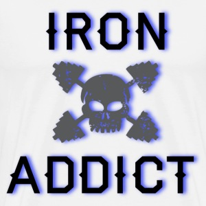 Iron Addict white T shirt - Men's Premium T-Shirt