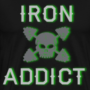 Iron Addict black T shirt - Men's Premium T-Shirt