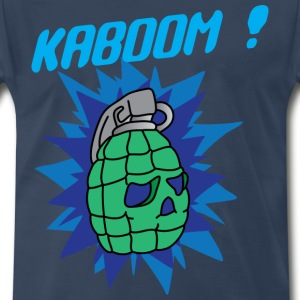 Kaboom navy blue t shirt - Men's Premium T-Shirt