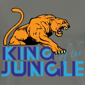 King of the jungle dark gray t shirt - Men's Premium T-Shirt