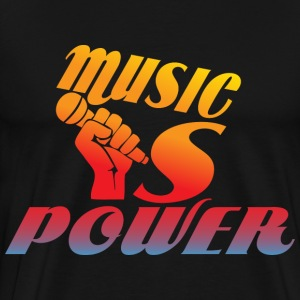 Music Is power black t shirt - Men's Premium T-Shirt