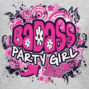 BADASS Party Girl Long Sleeve Shirts - Women's Long Sleeve Jersey T-Shirt
