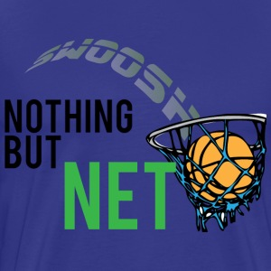 Nothing But Net dark blue t shirt - Men's Premium T-Shirt