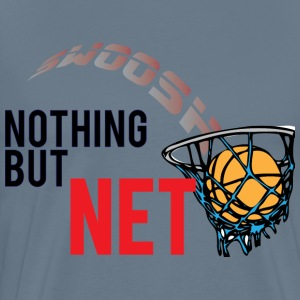 Nothing But Net light blue t shirt - Men's Premium T-Shirt