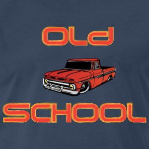 Old School steel blue t shirt - Men's Premium T-Shirt