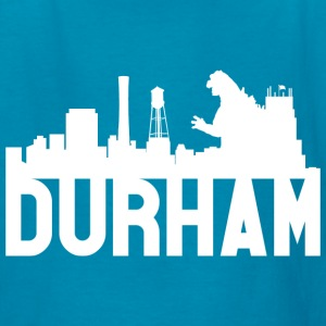Kid's Durham Skyline Godzilla Basic Tee (White) - Kids' T-Shirt
