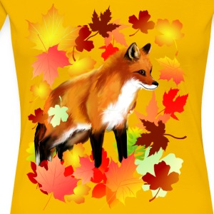A FOX in FALL - Women's Premium T-Shirt