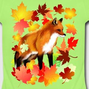 A FOX in FALL - Short Sleeve Baby Bodysuit