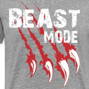 Men's Premium T-Shirt - Beast mode on, that show how work out you are