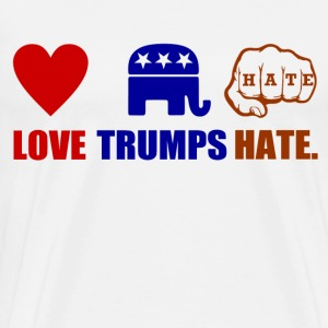LOVE TRUMPS HATE3.PNG T-Shirts - Men's Premium T-Shirt