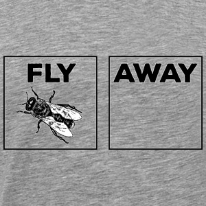 Fly Away Black And White T-Shirts - Men's Premium T-Shirt