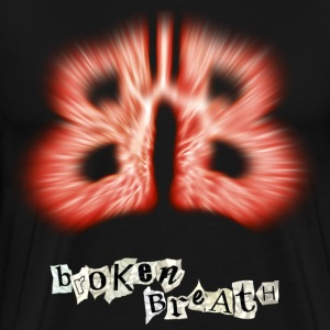 broken breath, lungs - Men's Premium T-Shirt
