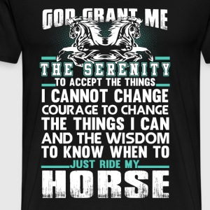 Horses - Just ride my horse - Men's Premium T-Shirt