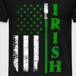 Irish jedi - Awesome flag t-shirt for Irish fans - Men's Premium T-Shirt